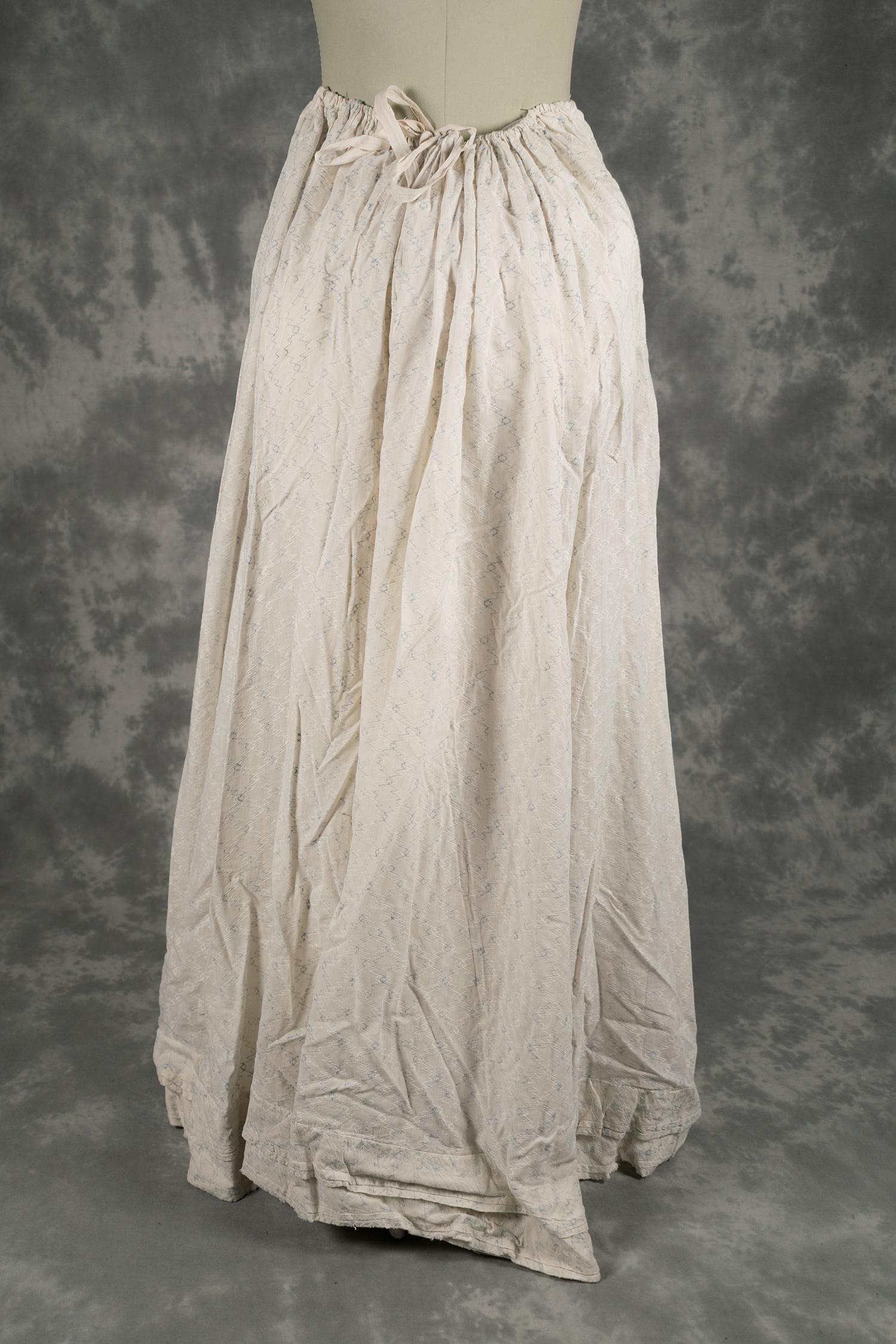 Falda de vestido de verano de algodón blanco  42915cc68b1f